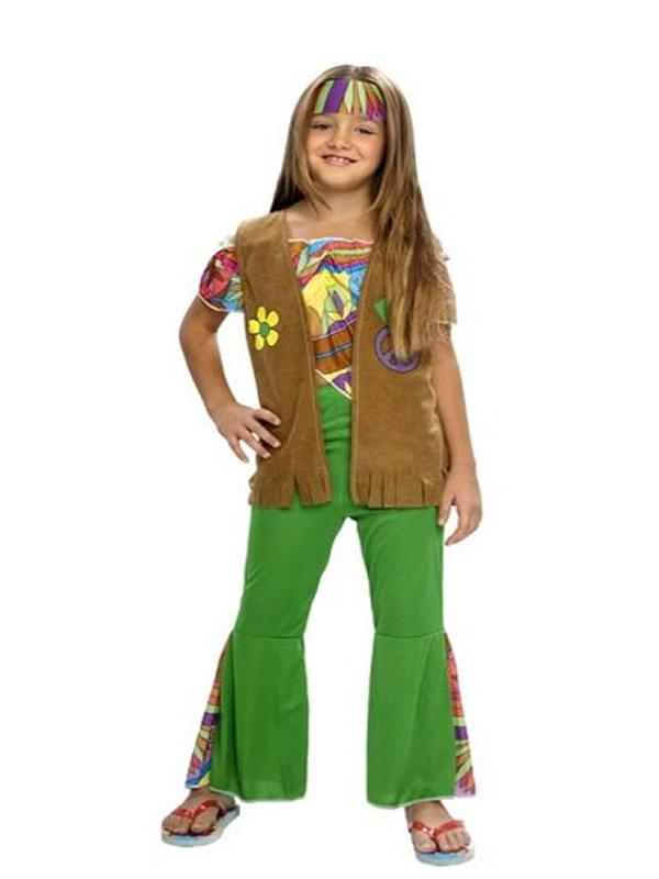 disfraz de hippie chaleco niña