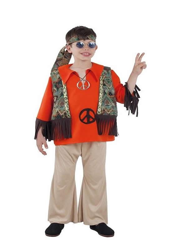disfraz de hippie clasico para niño
