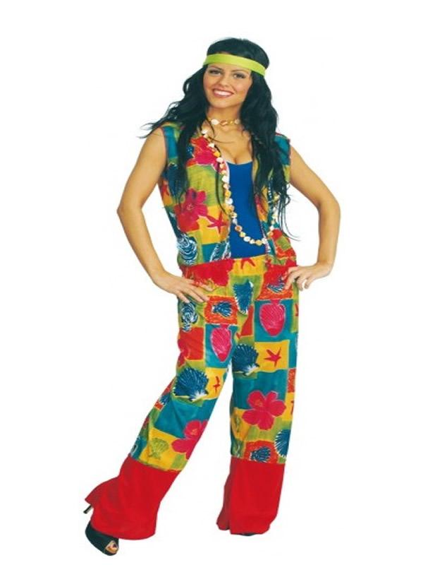 disfraz de hippie colores para mujer