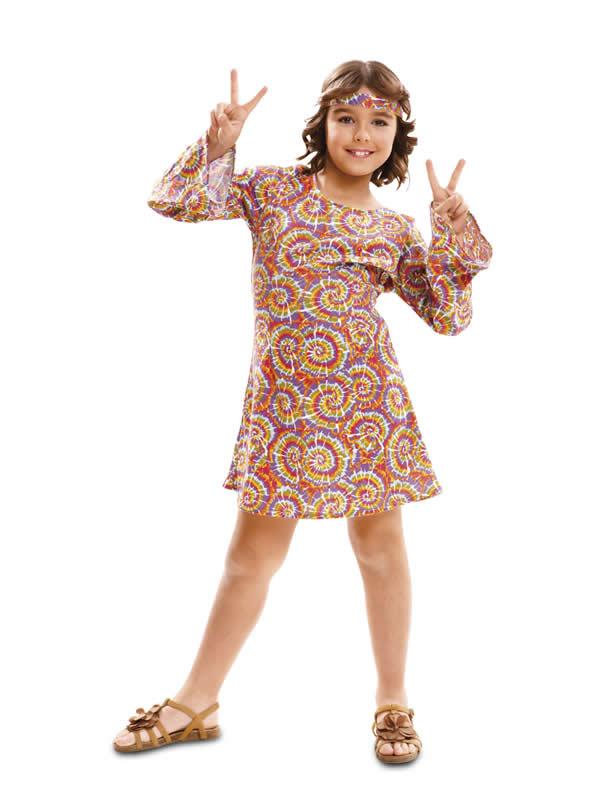 disfraz de hippie colorido niña