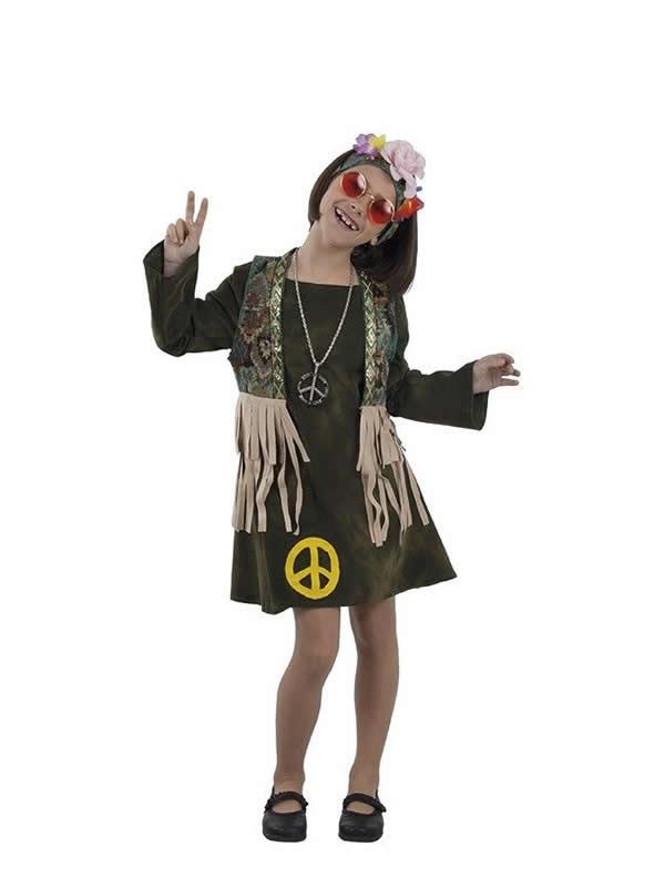 disfraz de hippie pacifista para niña