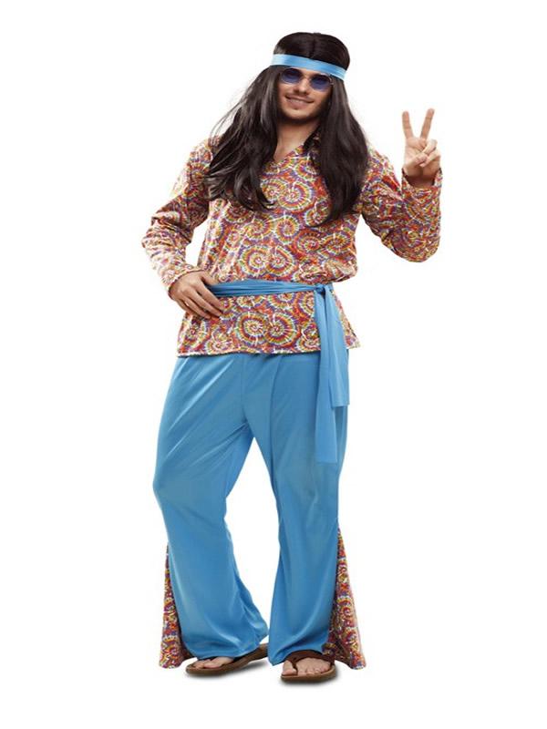 disfraz de hippie psicodelico para hombre