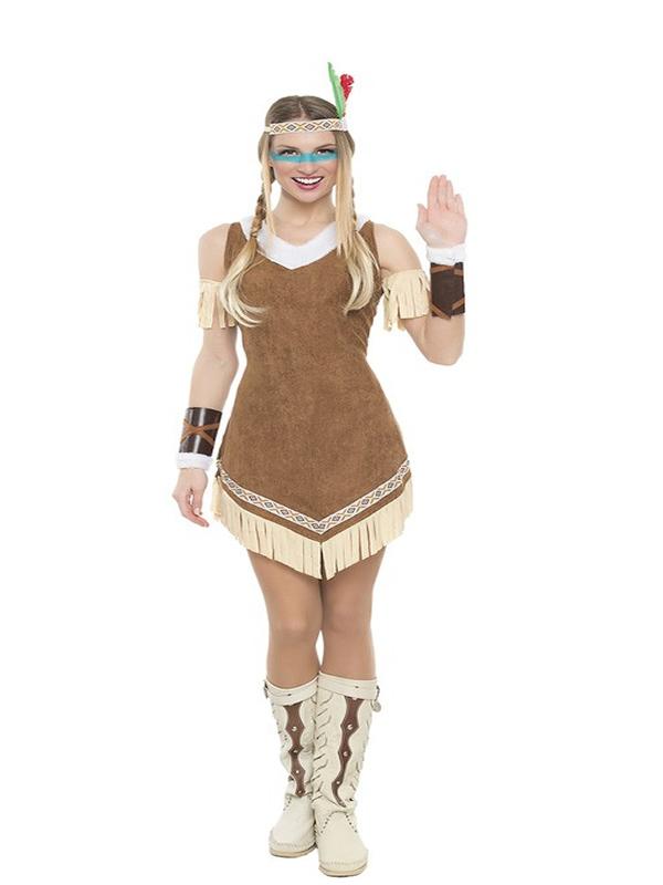 disfraz de india mohicana mujer