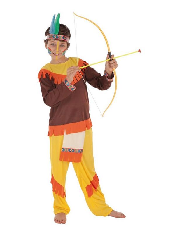 disfraz de indio con flecos para niño