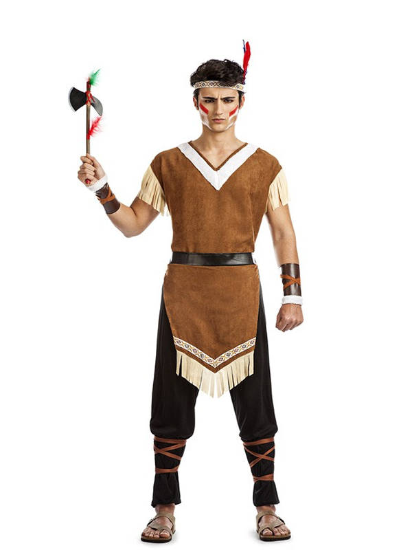 disfraz de indio mohicano hombre