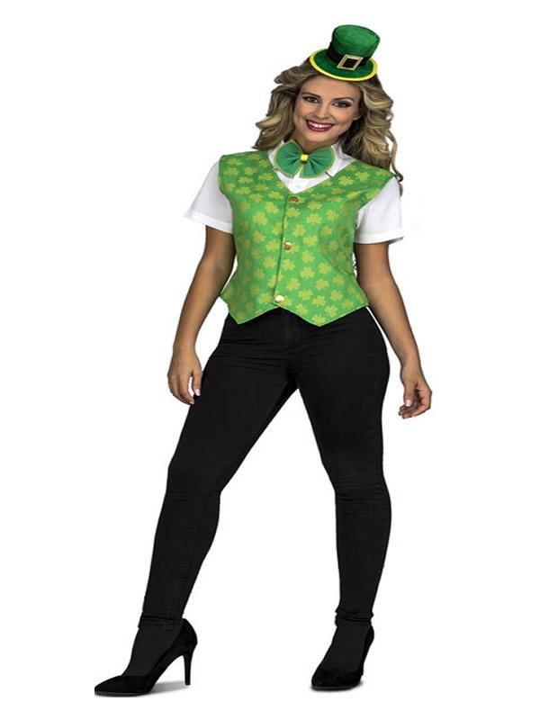 disfraz de irlandesa con chaleco para mujer