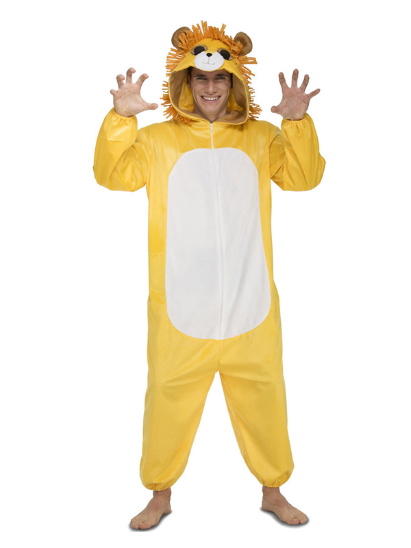 disfraz de leon adorable para adulto