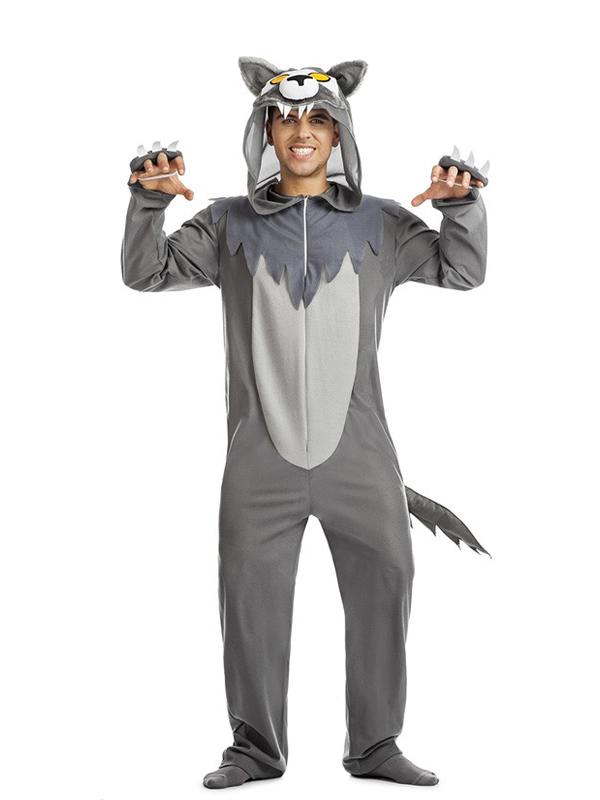 disfraz de lobo gris hombre