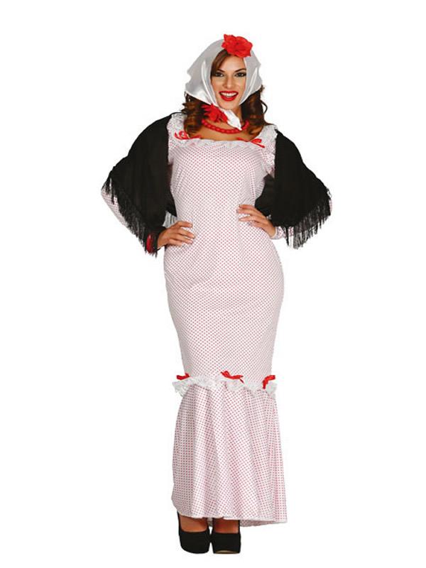 disfraz de madrileña barata mujer