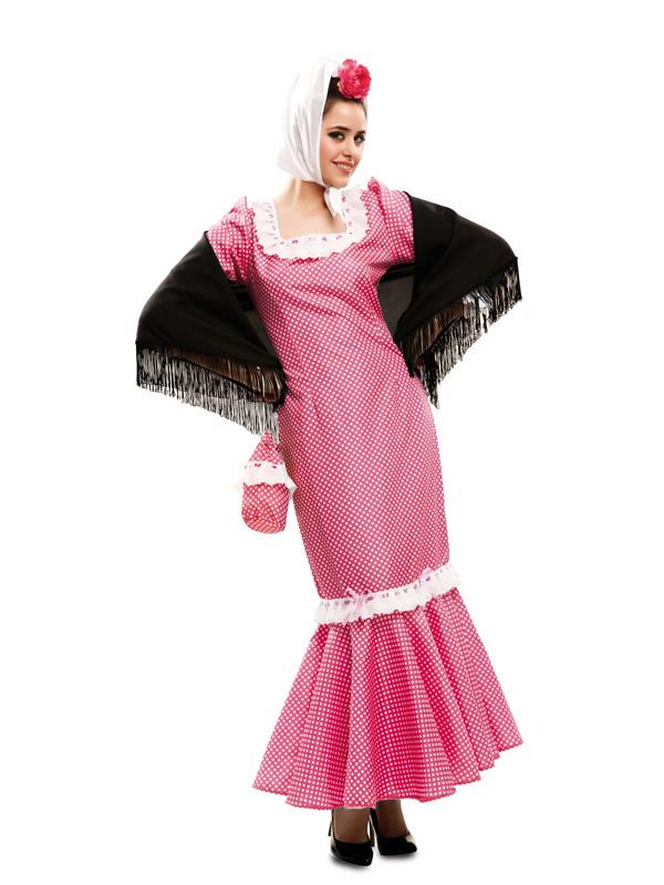 disfraz de madrilena rosa mujer m2320 - Disfraces para la Feria de San Isidro y ser el mejor chulapo