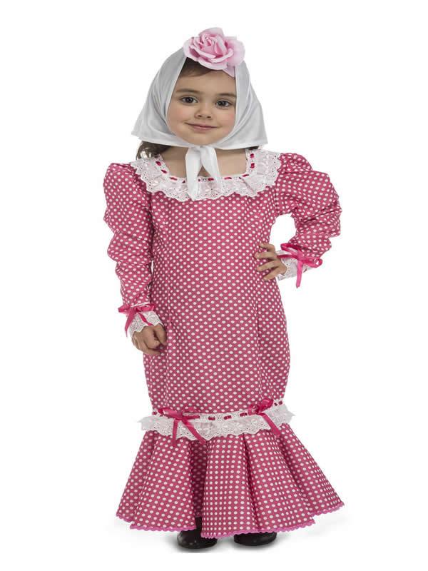 disfraz de madrileña rosa para bebe