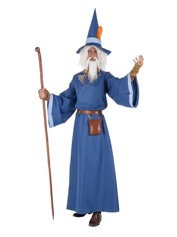 disfraz de mago azul para hombre