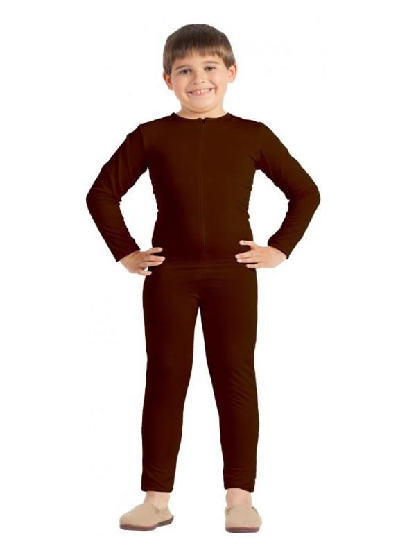 disfraz de maillot o mono marron niño