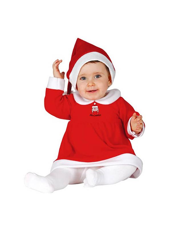 disfraz de mama noel para bebe