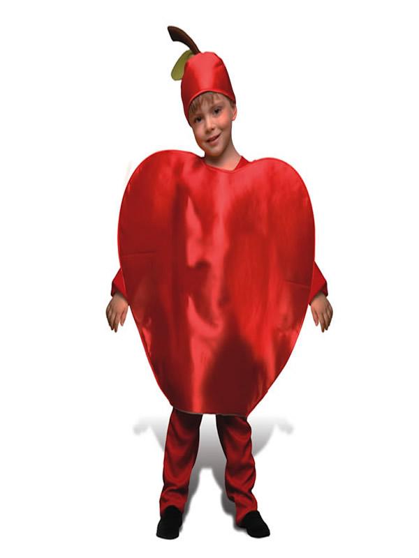 disfraz de manzana roja niño