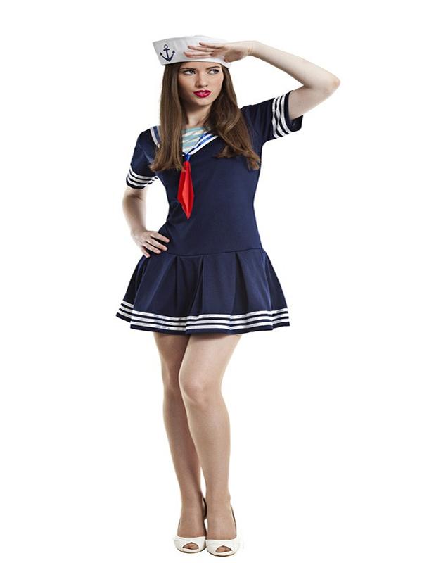disfraz de marinera azul para mujer k0097 - Como organizar una fiesta de despedidas de soltera con disfraces y complementos