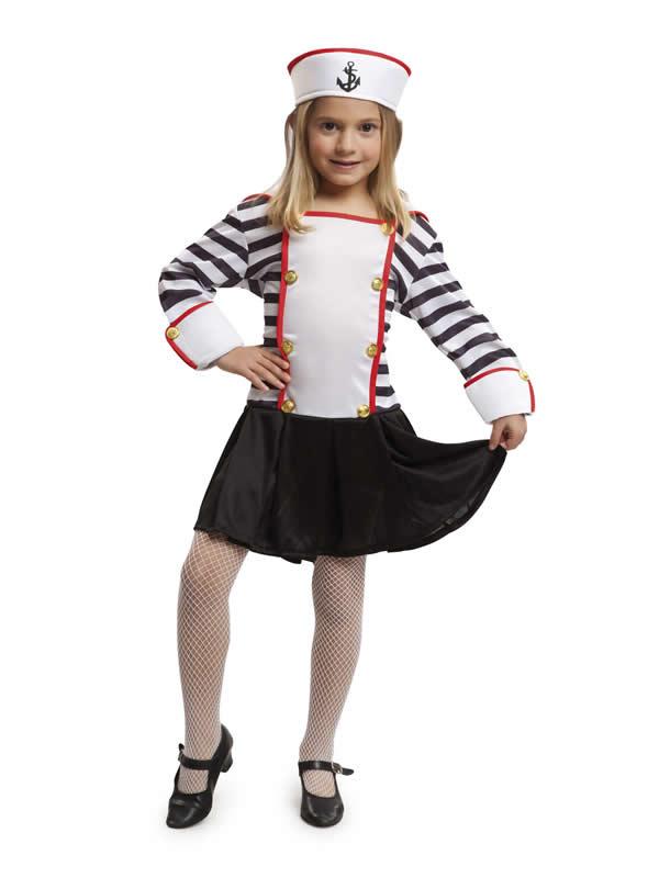 disfraz de marinera rayas niña