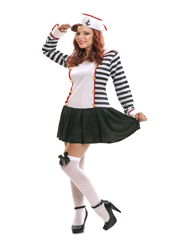 disfraz de marinera rayas para mujer