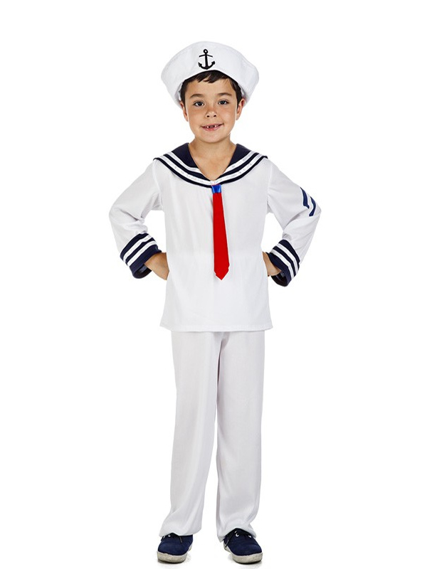 disfraz de marinero blanco para niño