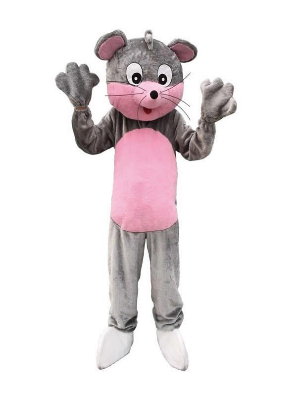 disfraz de mascota raton gris adulto