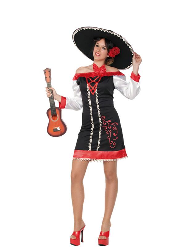Disfraz de mejicana mariachi para mujer comprar barato - Disfraces del mundo ...