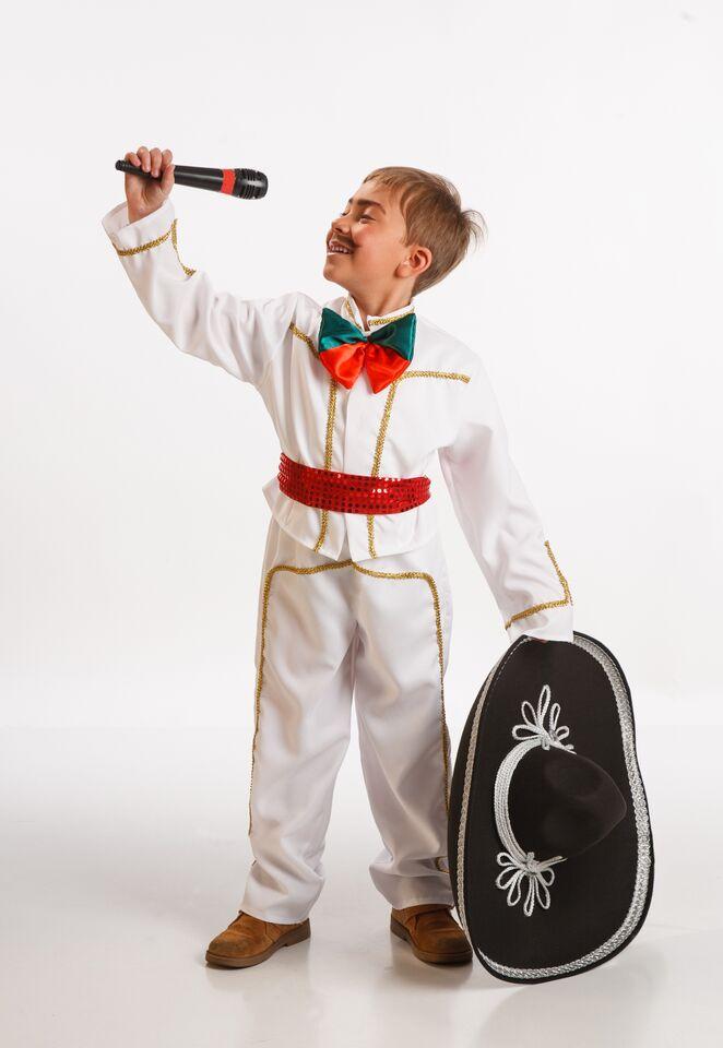 disfraz de mejicano blanco niño