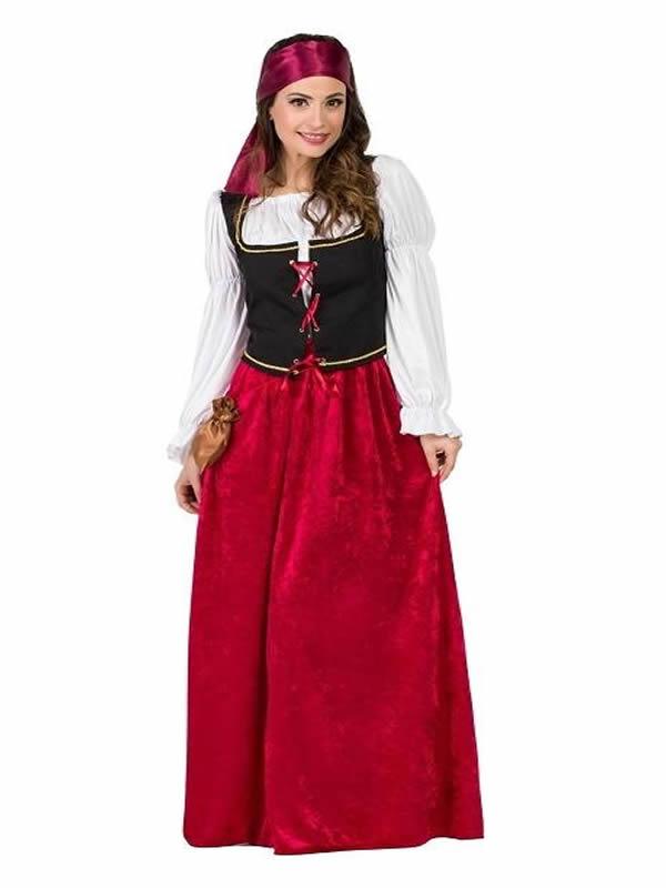 disfraz de mesonera medieval terciopelo mujer