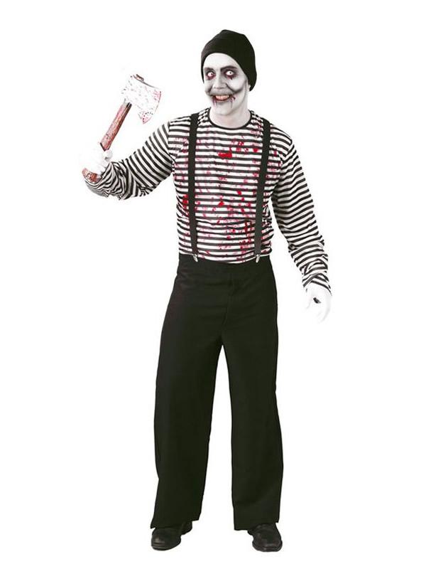 disfraz de mimo asesino hombre