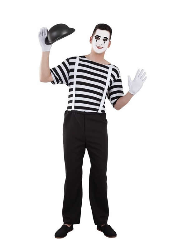 disfraz de mimo para hombre adulto
