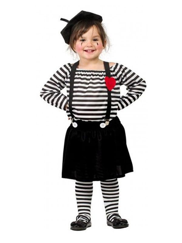 disfraz de mimo para nina K5803 - Ideas para disfrazarse de Disfraces en Pareja Infantiles