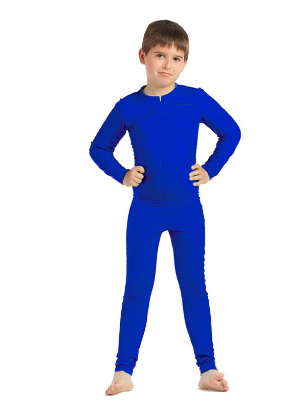 disfraz de mono o maillot azul niños