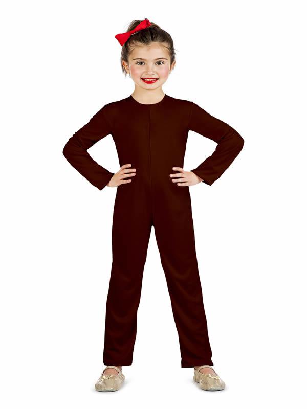 disfraz de mono o maillot marron infantil