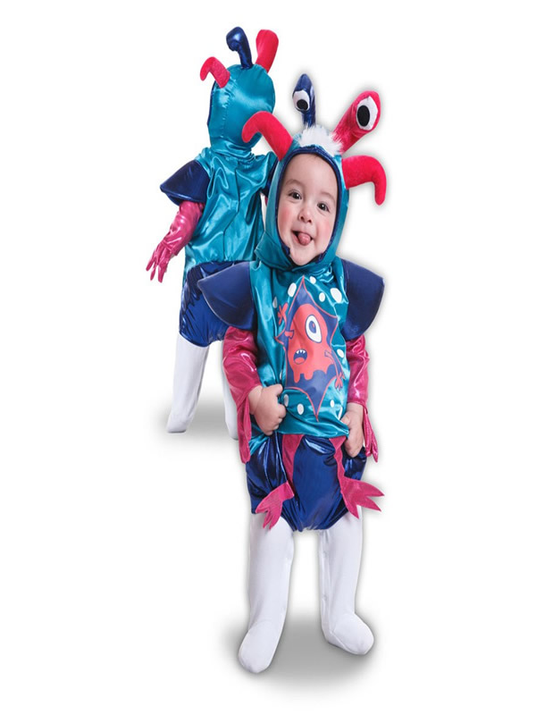 disfraz de monstruo divertido para bebe