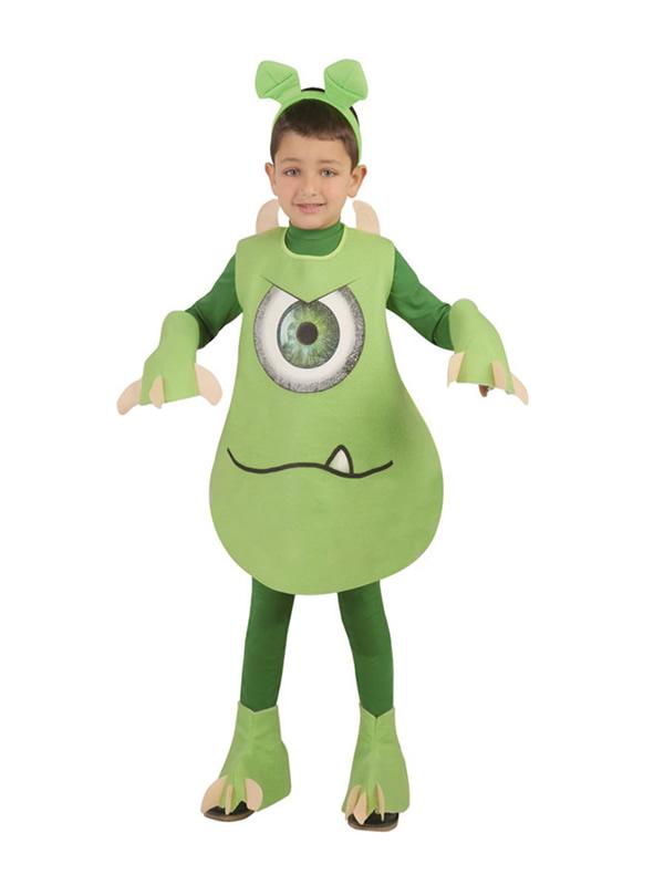 disfraz de monstruo verde niño
