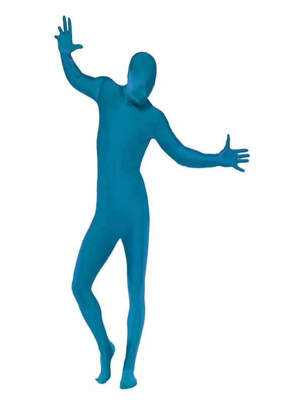 disfraz de morphsuit segunda piel azul hombre