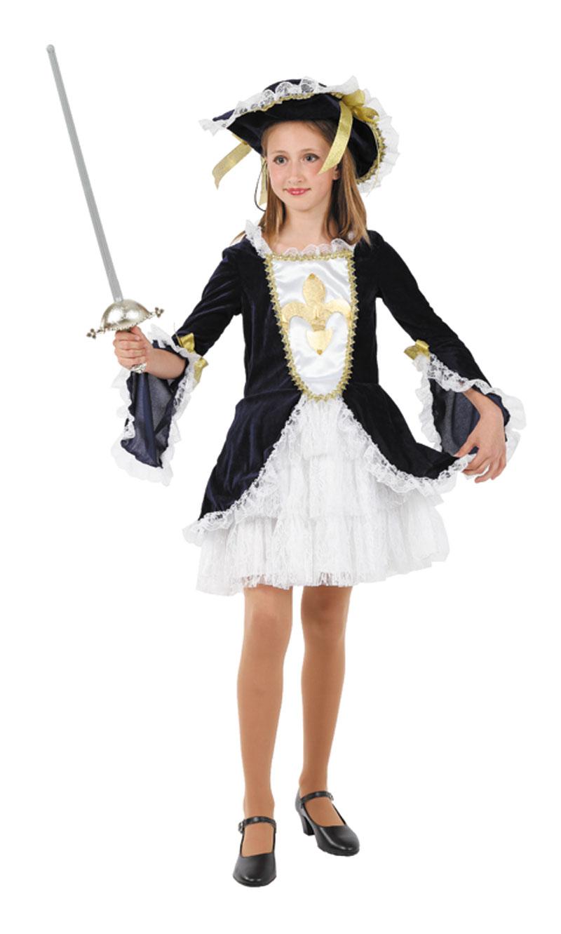 disfraz de mosquetera con vestido para nina 7 a 9 anos fy1298 - Día internacional de los Mosqueteros