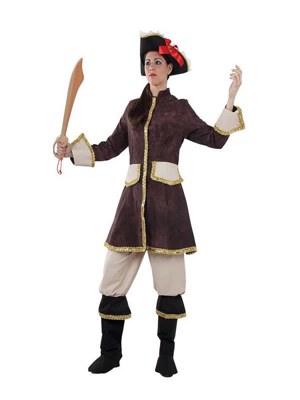 disfraz de mosquetera marron mujer