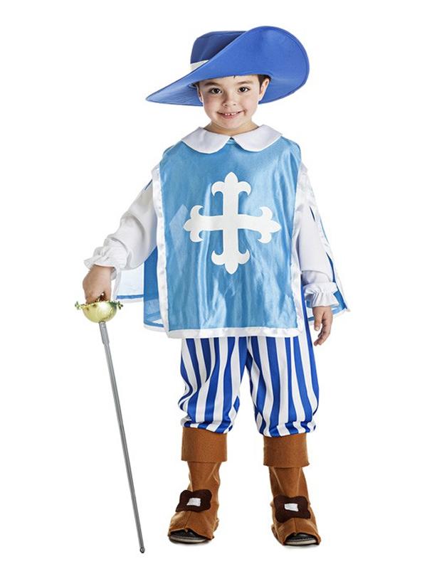 disfraz de mosquetero azul nino