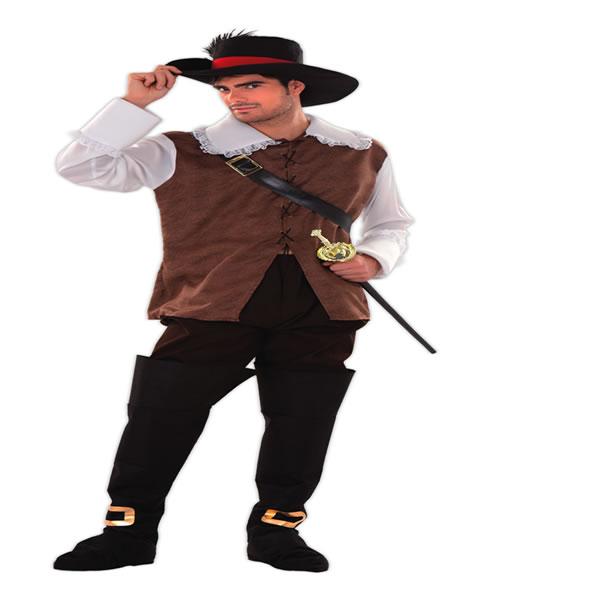 disfraz de mosquetero dartañán para hombre