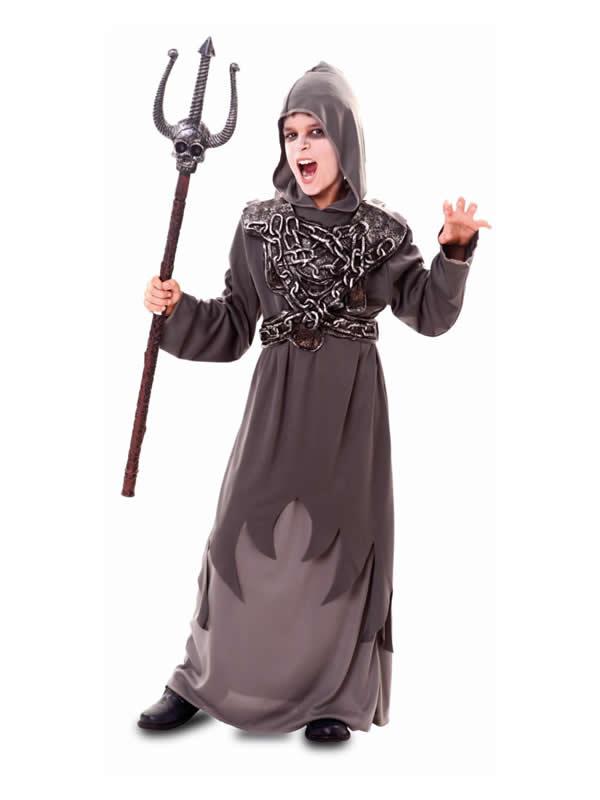 disfraz de muerte con toga cadenas niño
