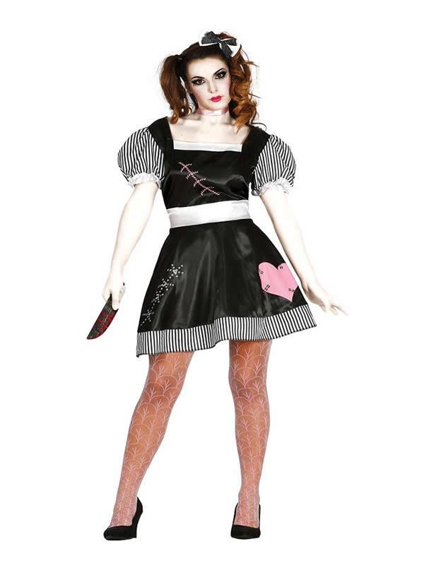 disfraz de muñeca pepona muerte mujer