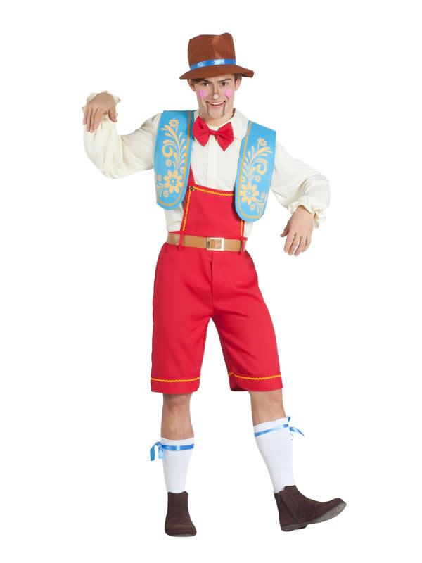 disfraz de muñeco de madera para hombre
