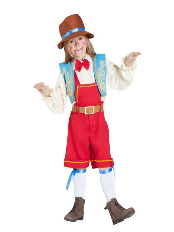 disfraz de muñeco de madera para niño