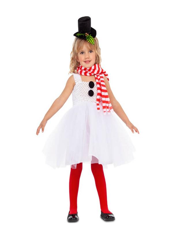 disfraz de muñeco de nieve con tutu para niña