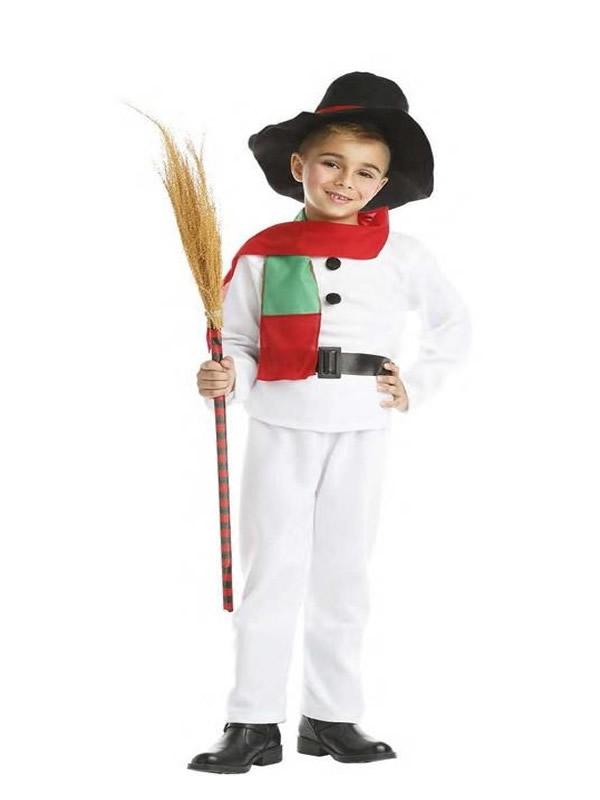 disfraz de muñeco de nieve infantil