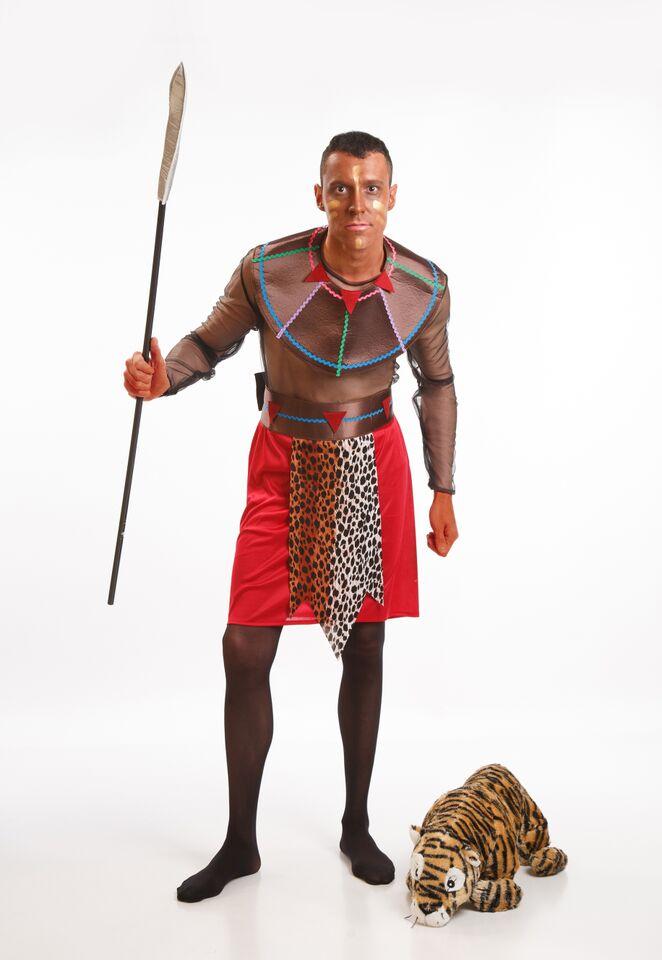 disfraz de negro africano para hombre adulto