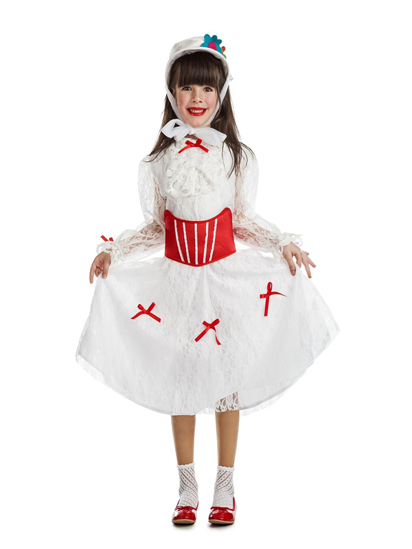 disfraz de niñera mary poppins niña