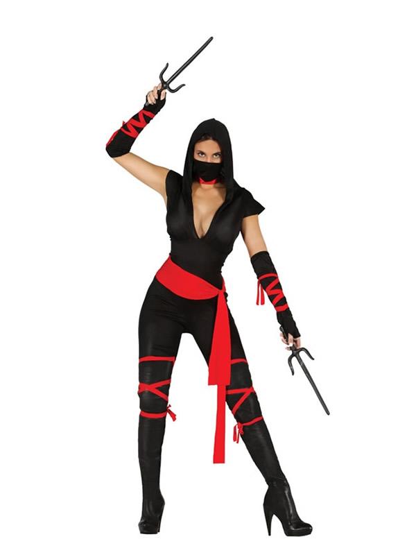 disfraz de ninja black mujer