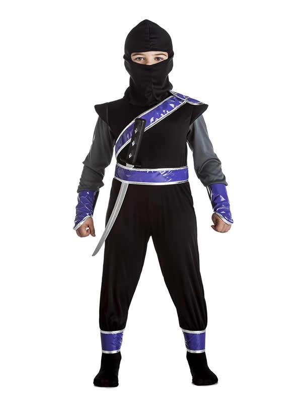 disfraz de ninja con cintas niño
