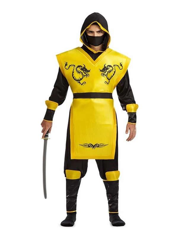 disfraz de ninja escorpion amarillo hombre